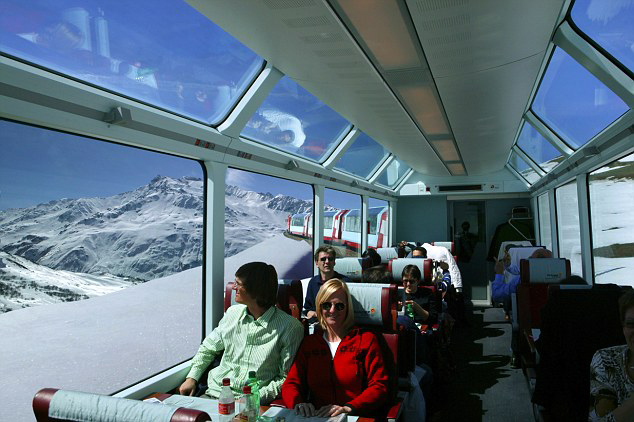 Glaciar Express vagon panorama